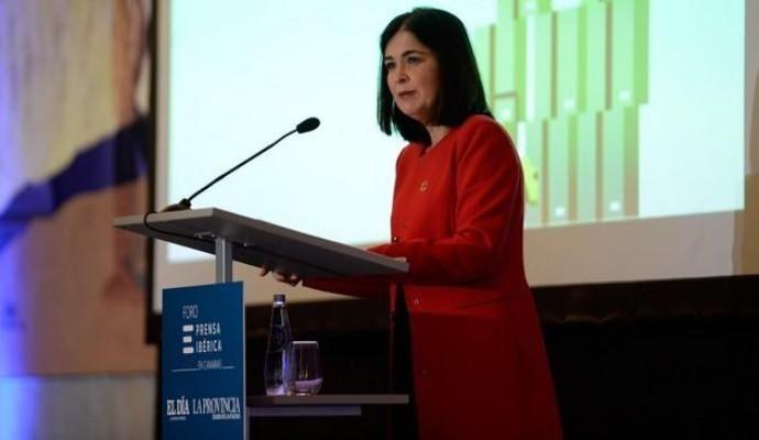 Carolina Darias, en el Foro Prensa Ibérica, el 9 de diciembre de 2019.
