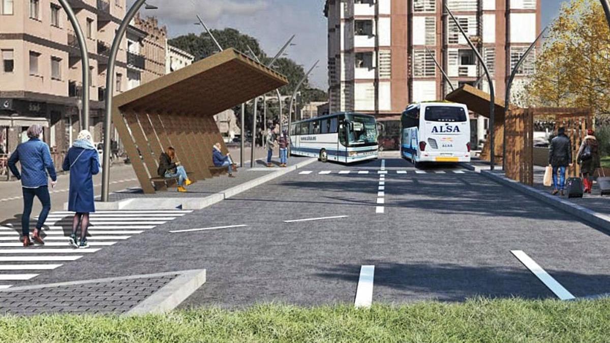 Projecció de la futura estació d'autobusos de Gironella, que serà la primera de la comarca