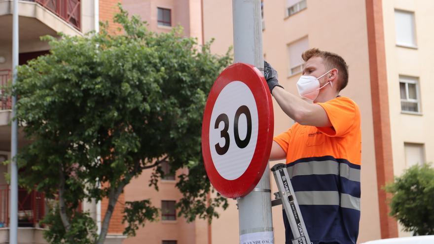 Castelló activa hoy el límite de velocidad con 30 km/h en el centro y 60 en la ronda