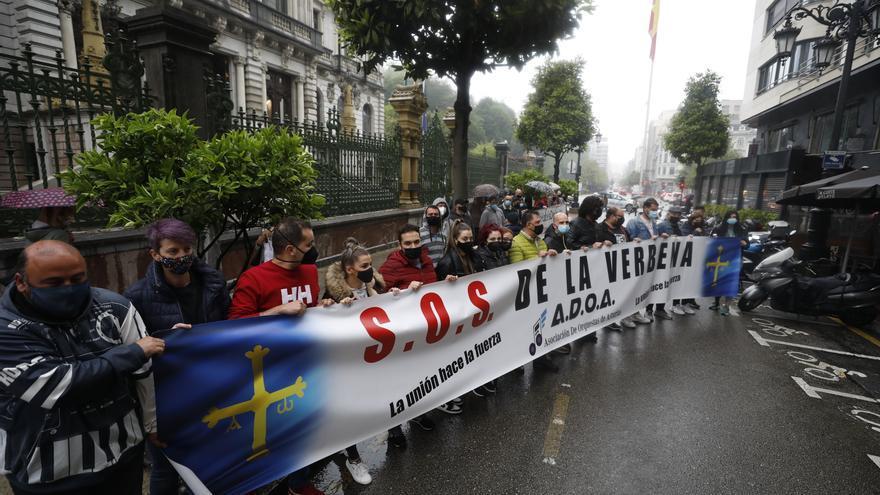 """""""Nos están dejando morir lentamente"""": el sector de las verbenas clama por su futuro frente a la Junta General del Principado"""