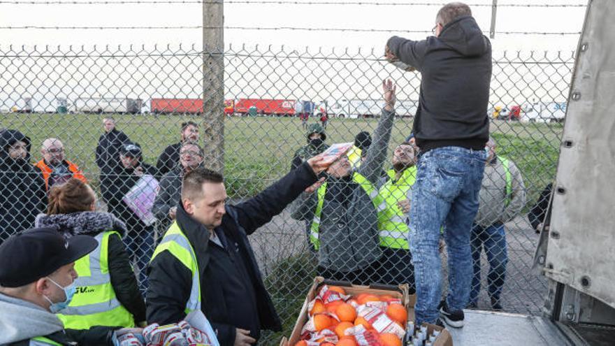 Tensión entre los camioneros en la frontera franco-británica