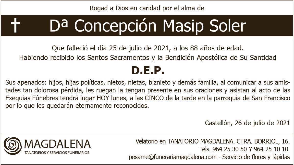 Dª Concepción Masip Soler