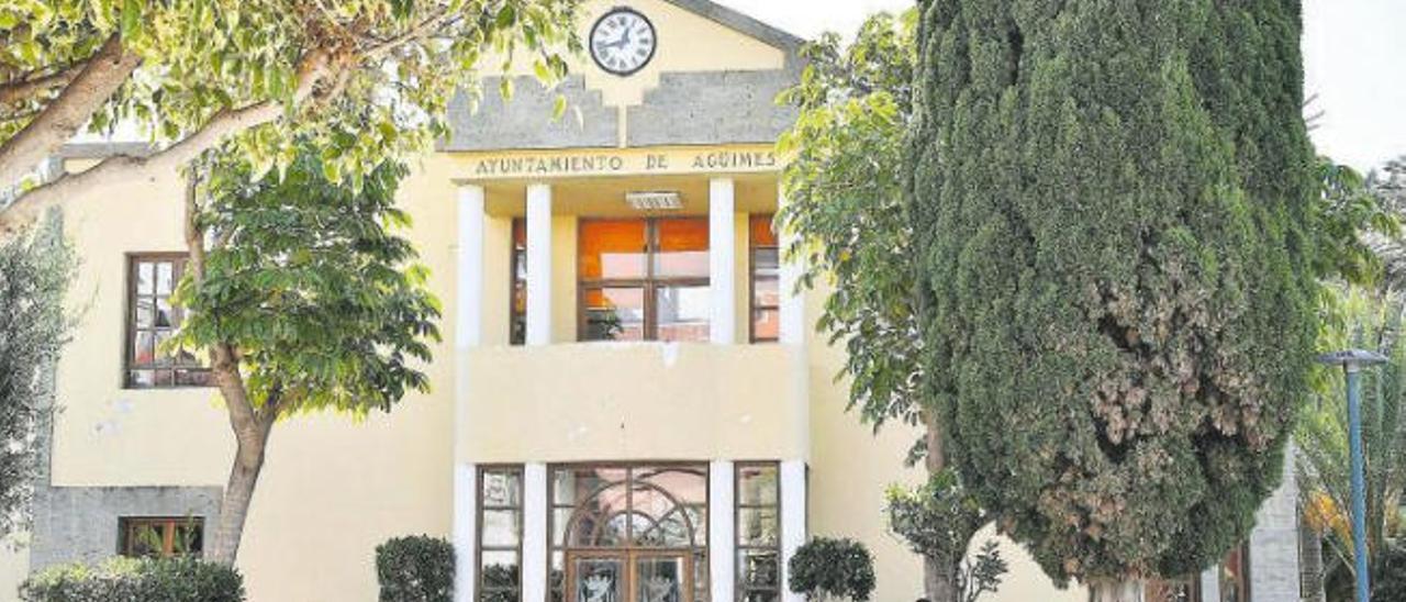 Fachada del Ayuntamiento de Agüimes.