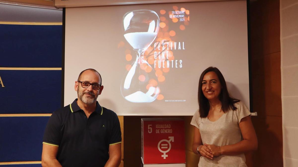 José Antonio Aguilar y Cristina Palacín, este viernes, en la presentación del festival.