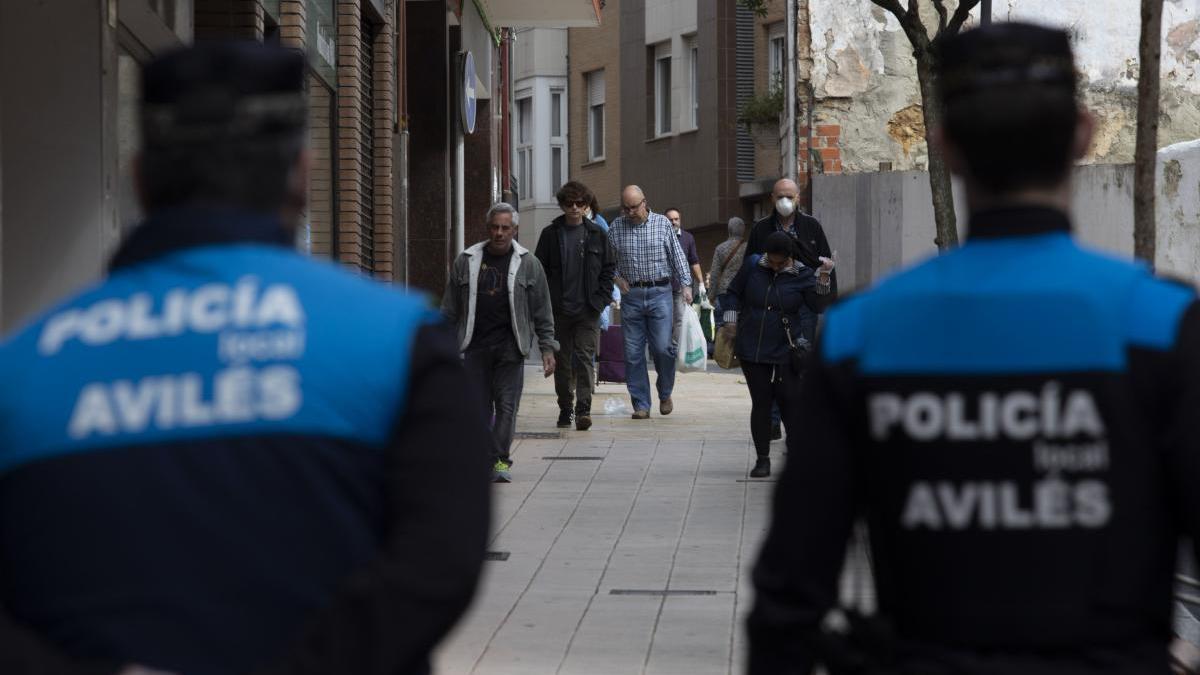 Agentes de la Policía Local de Avilés.