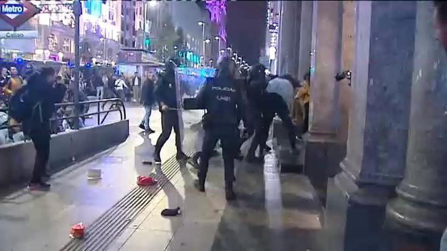 Doce detenidos en los incidentes en Madrid