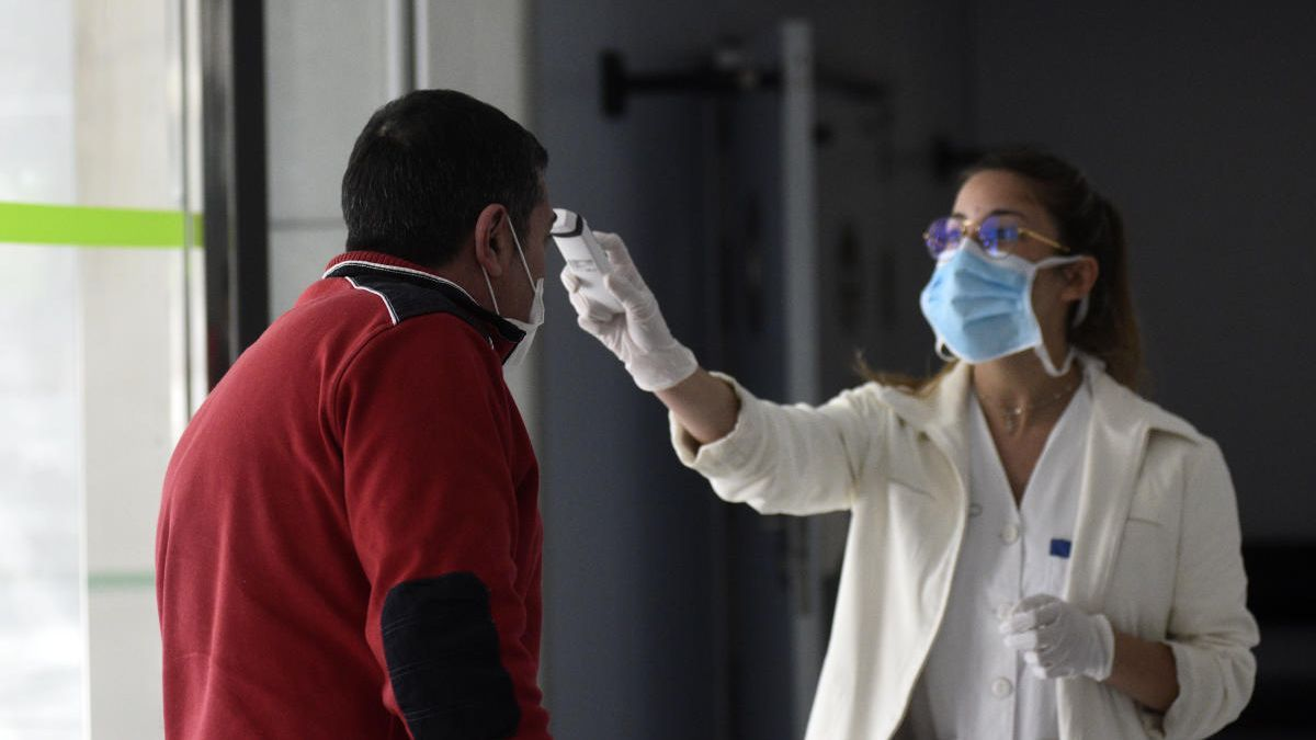 Una toma de temperatura en el Reina Sofía.