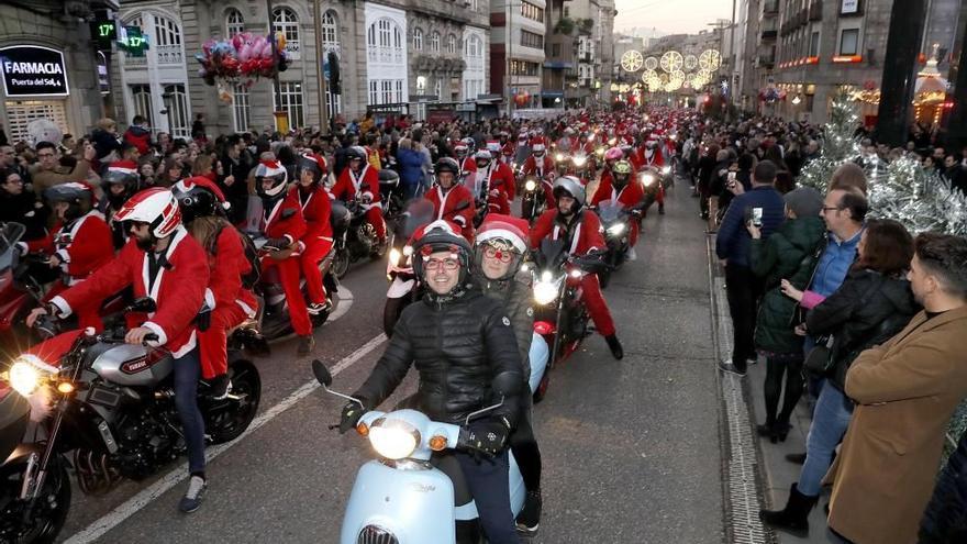 La 'Papanoelada' motera de Vigo, otra damnificada por la pandemia