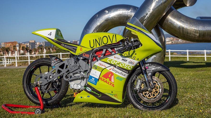 Una moto diseñada por 23 estudiantes de la Universidad de Oviedo, entre las diez mejores del mundo