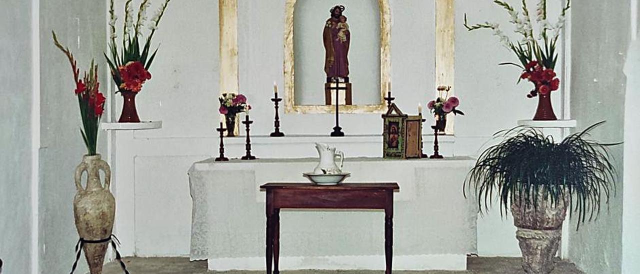 La capilla de Cas Correu en 1992.