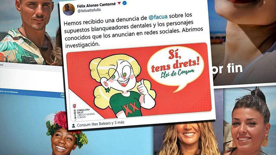 Baleares investiga los productos dentales anunciados por colaboradores de Sálvame y La isla de las tentaciones