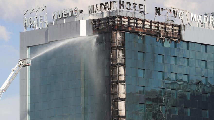 Sofocado el incendio del Hotel Nuevo Madrid