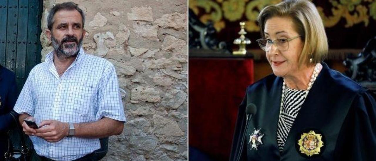 El fiscal anticorrupción Felipe Briones. // La fiscal superior de la Comunidad, Teresa Gisbert.