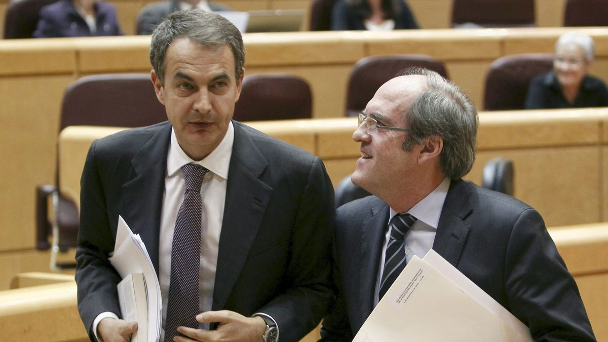 Una imagen de archivo de José Luis Rodríguez Zapatero y Ángel Gabilondo.