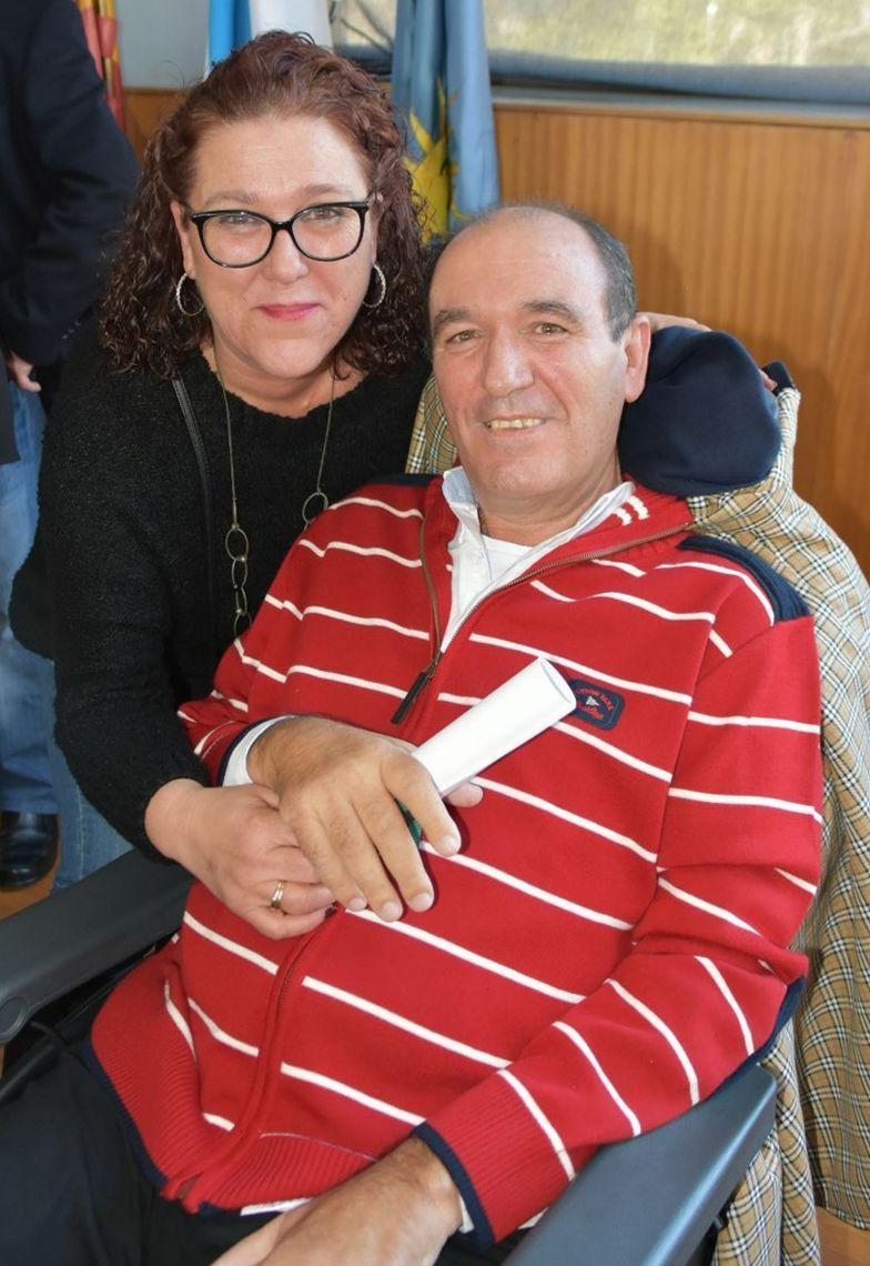 Pili Guimeráns, en una imagen de archivo con su hermano Tino, fallecido en mayo de 2019.