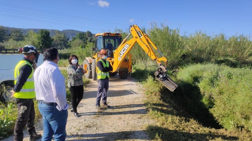 Agricultura repara las acequias de Ontinyent afectadas por la DANA