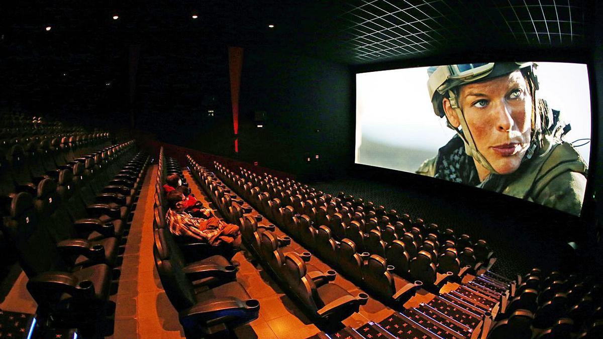 Una proyección en los cines Yelmo de Vigo. |   // MARTA G. BREA