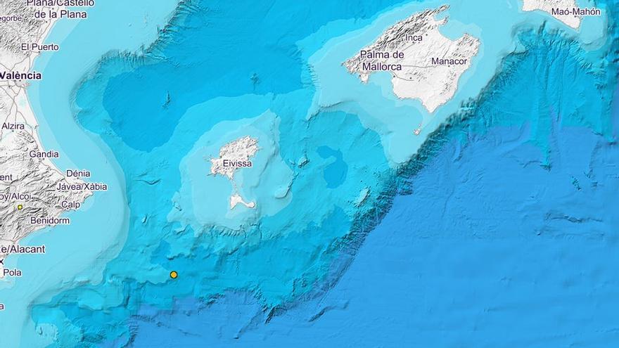 Registrado un seísmo de 2,3 grados frente a la costa de Ibiza