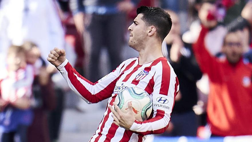 """Morata: """"Por desgracia tuve que jugar con otra camiseta"""""""