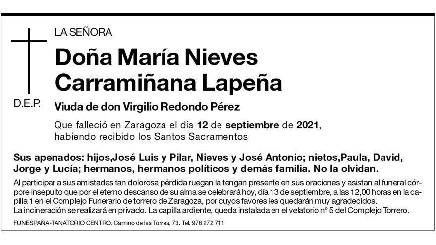 María Nieves Carramiñana Lapeña