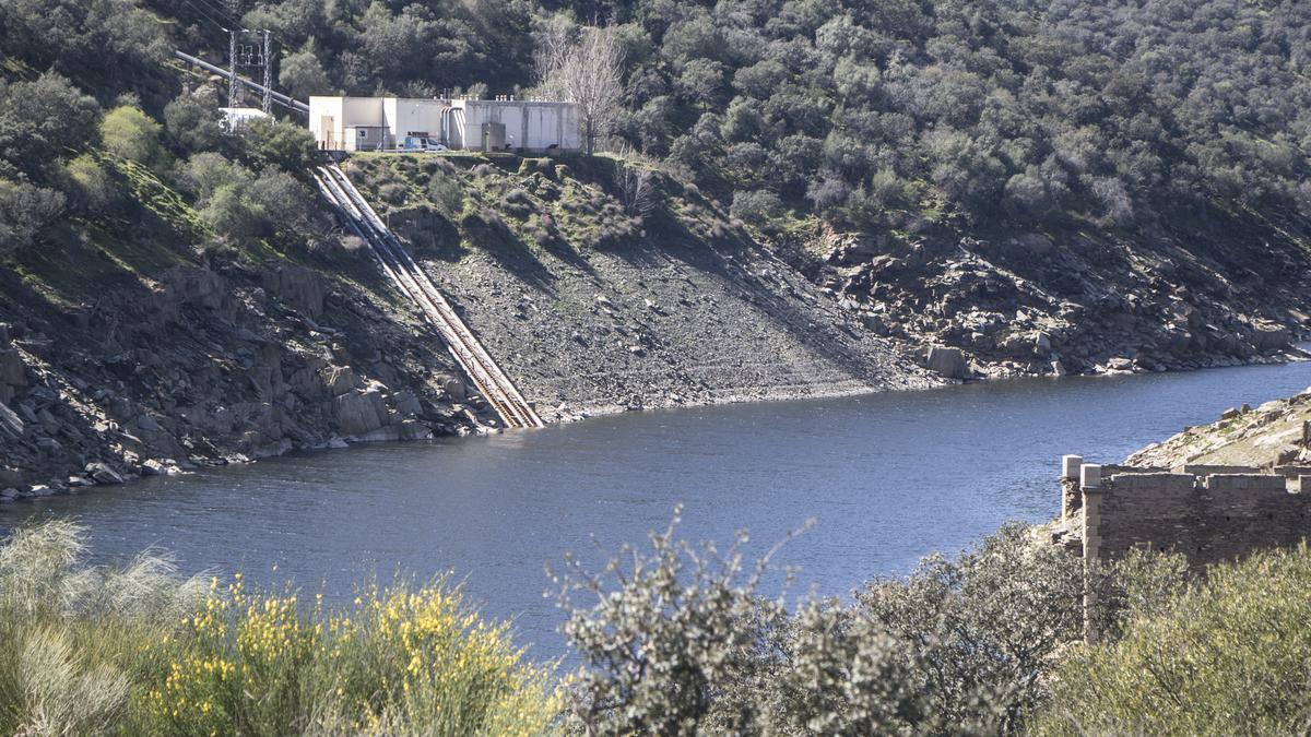 Trasvase del Almonte desde donde se bombea el agua que llega a Cáceres.
