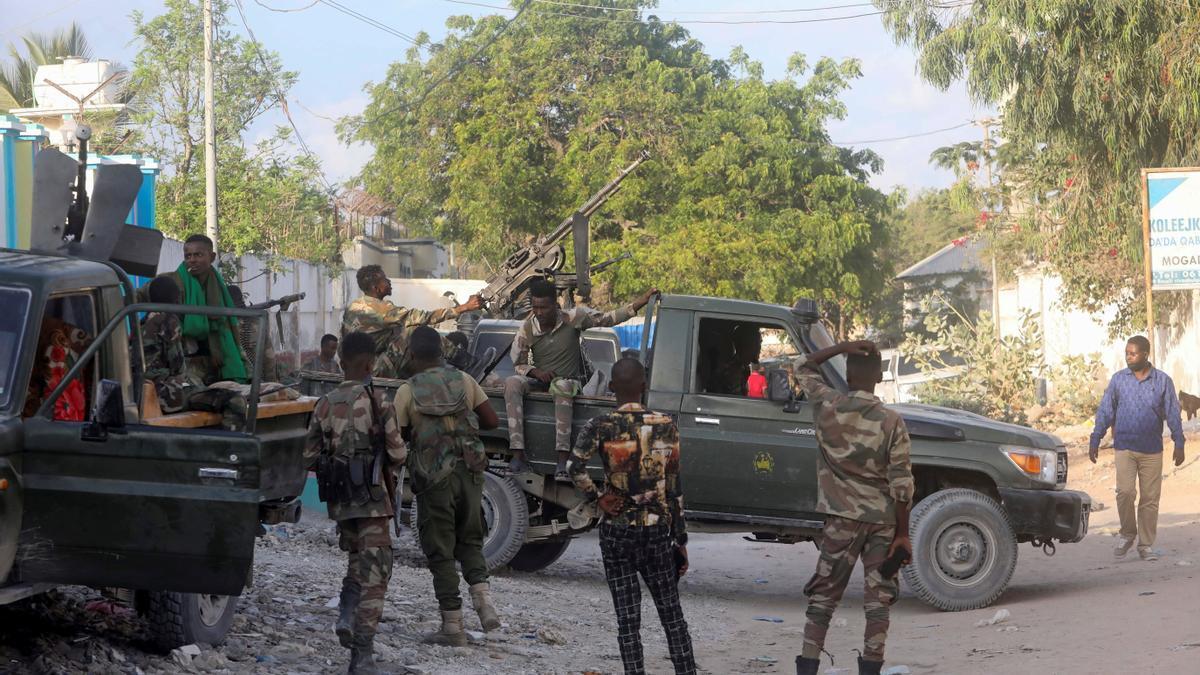 Despliegue de fuerzas militares en Mogadiscio.