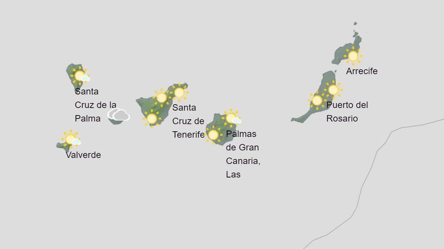Jueves con lluvias débiles y temperaturas en ascenso