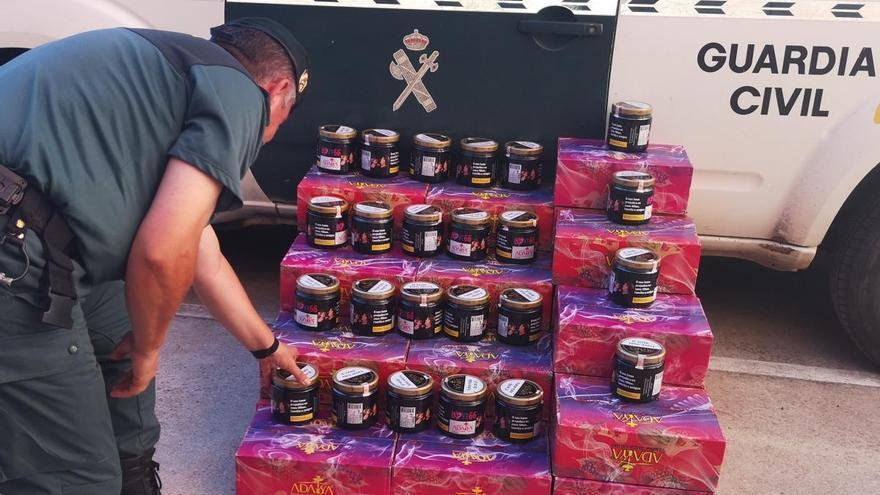La Guardia Civil de Zamora intercepta en Cañizal un vehículo con 228 kilos de tabaco con destino a Bélgica