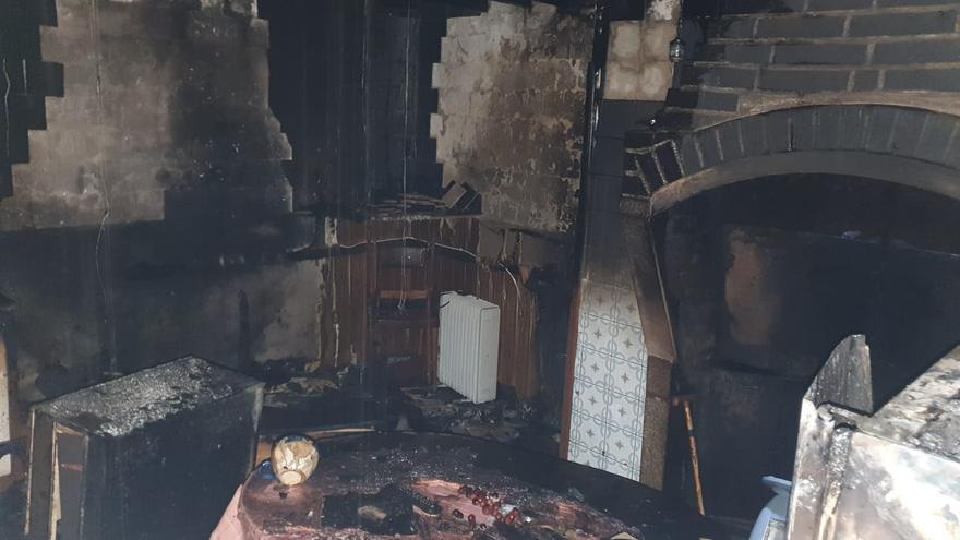 Arde una casa en Rabanales
