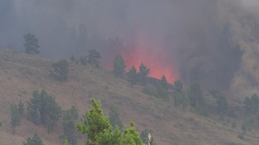 Erupción del volcán de La Palma en Cabeza de Vaca, Cumbre Vieja