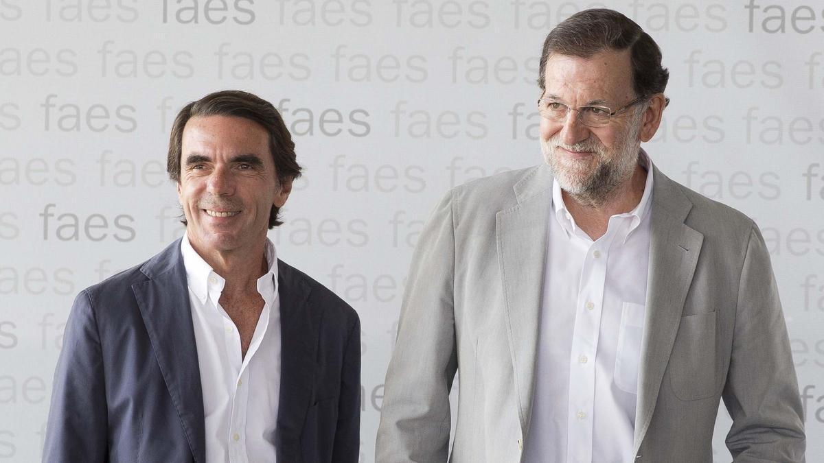 Arxiu - Mariano Rajoy i José María Aznar en la cita anual amb el Campus FAES