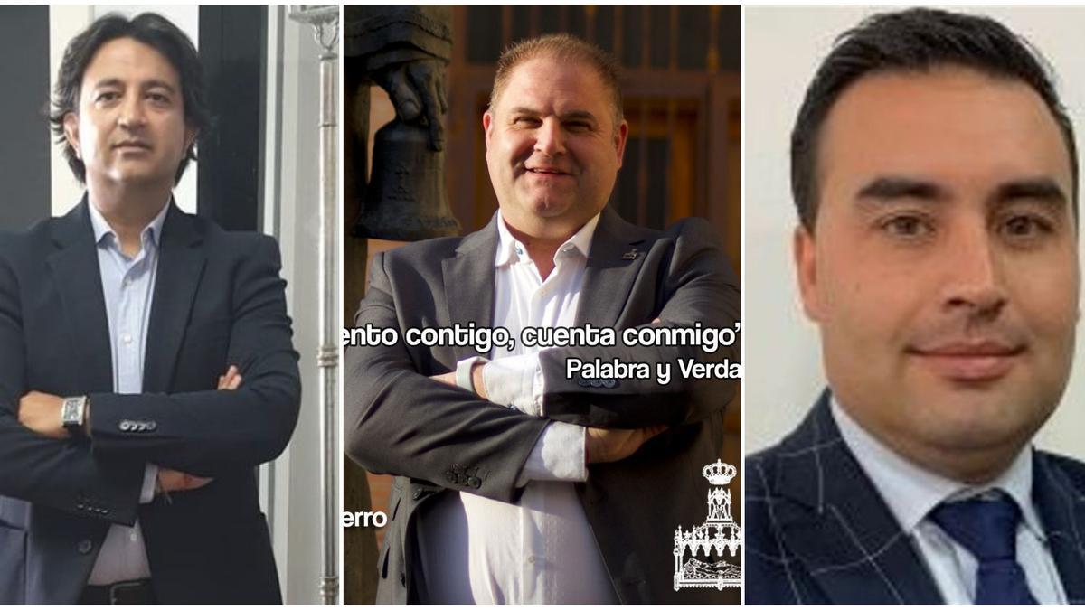 Los tres candidatos a la Presidencia del Santo Entierro.