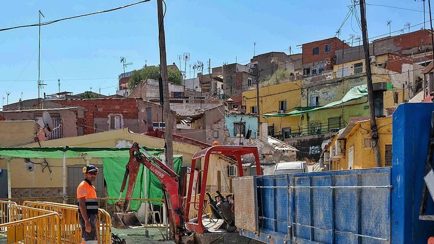 Nuevas obras en el vial de La Tafalera de Elda para evitar el hundimiento del terreno
