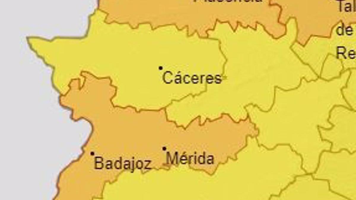 Alertas en Extremadura para el sábado 17 de julio