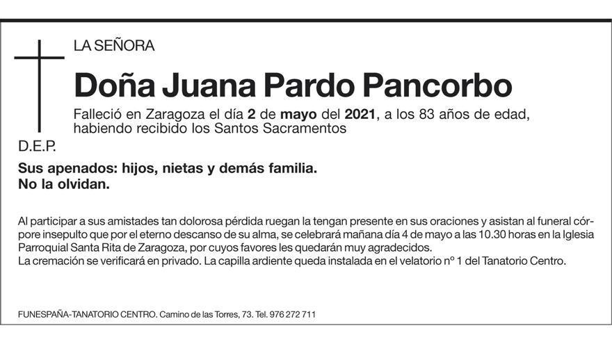 Juana Pardo Pancorbo