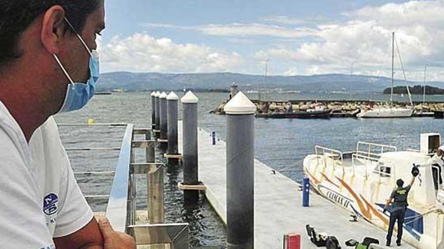 Dos detenidos en Vilanova cuando subían una 'narcolancha' a un remolque en el puerto