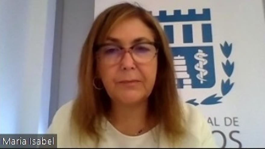 María Isabel Moya, presidenta del Colegio de Médicos de Alicante.