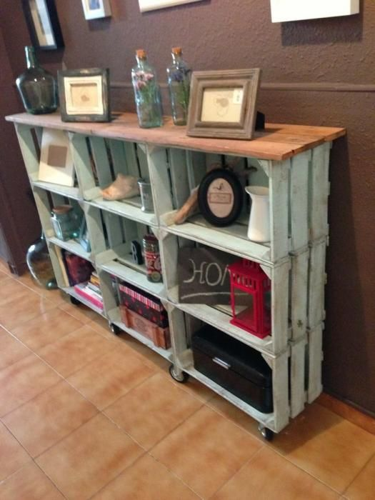 Ideas para decorar con cajas de fruta recicladas