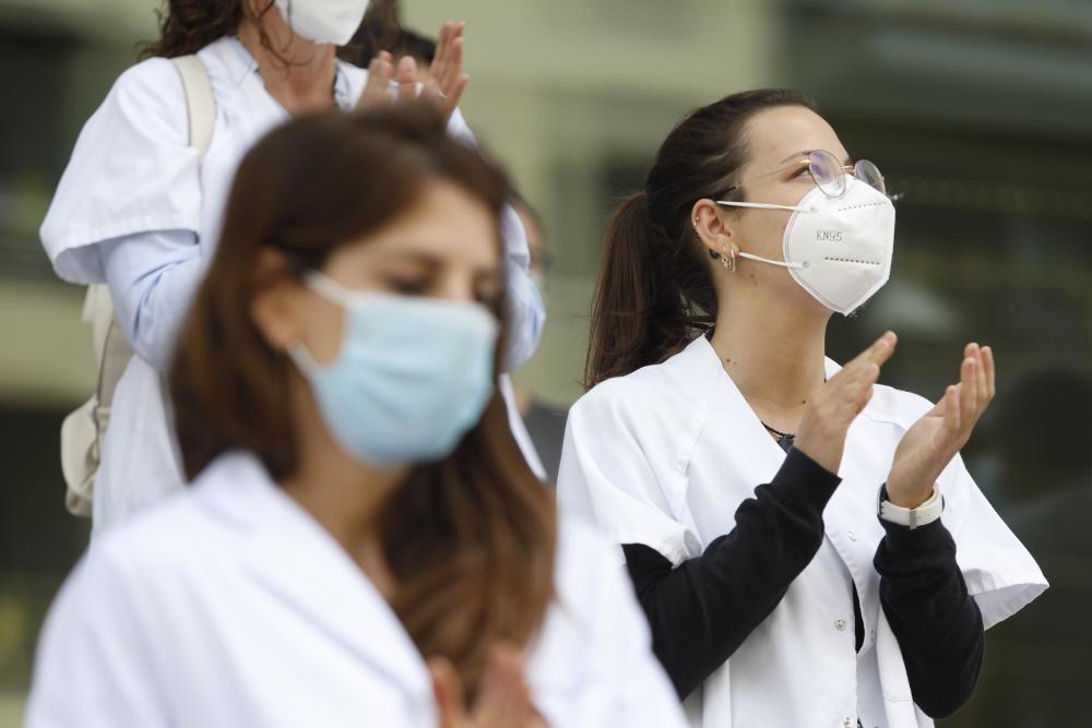 Protesta dels sanitaris gironins