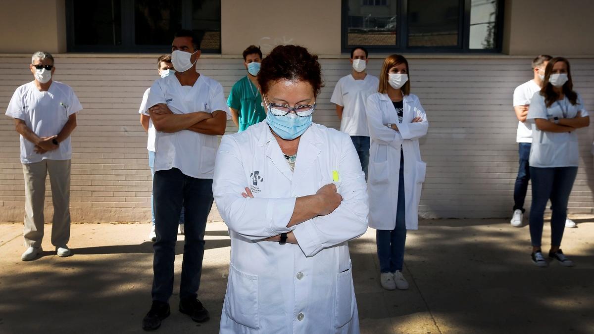 Sanitarios protestan