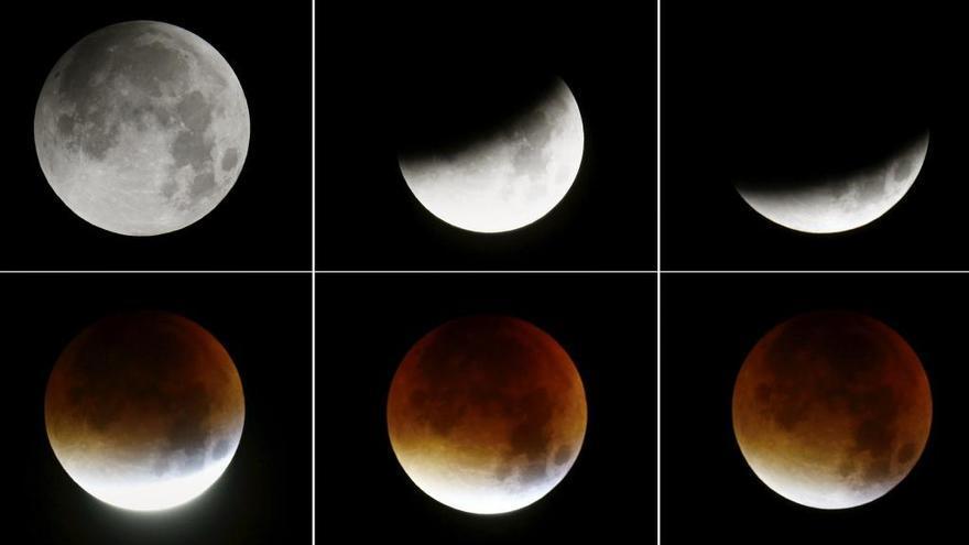 ¿A qué hora se podrá ver el eclipse total y la 'luna de sangre'?