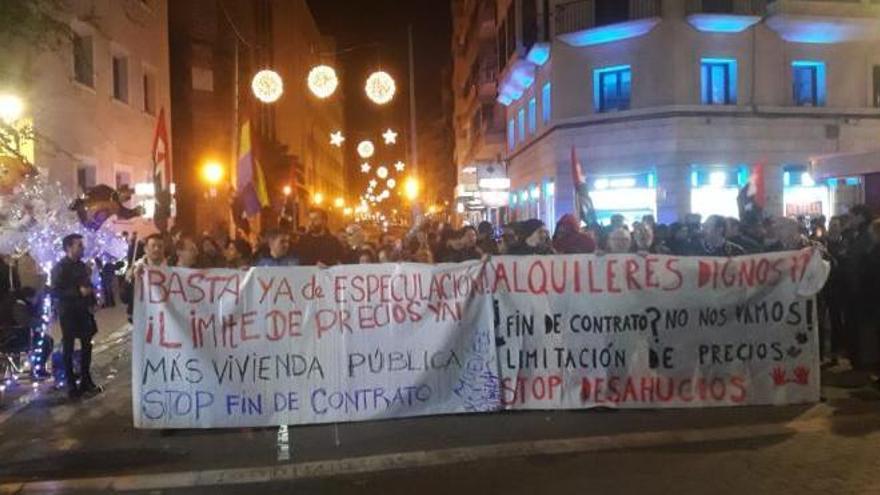 Protest gegen hohe Mieten in Palma de Mallorca