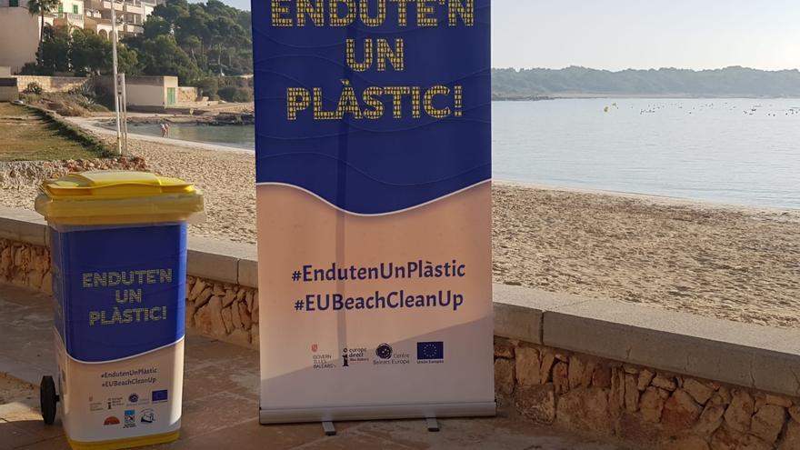 La Colònia de Sant Jordi se suma a la campaña de limpieza de playas de plásticos