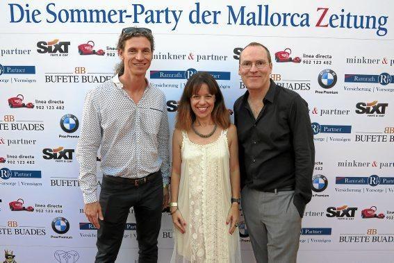 "Frank Feldmeier (MZ), ""Diario de Mallorca""-Chefredakteurin Maria Ferrer, Ciro Krauthausen (MZ)"