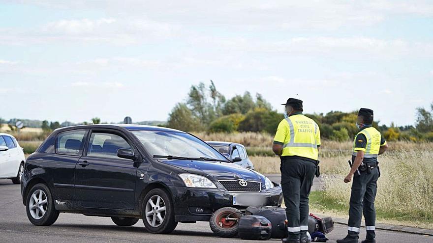 La rotonda de Villaralbo fue escenario de otro accidente