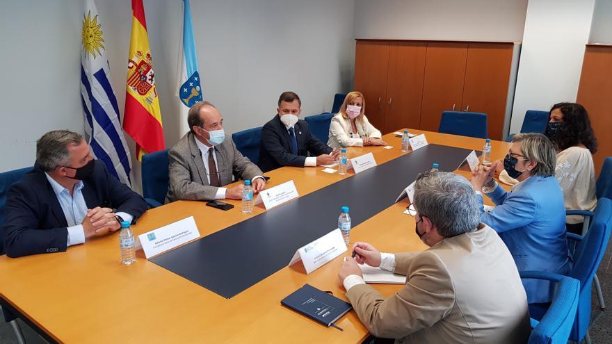 Quintana se reunió con la delegación de Uruguay que se citó con ARVI