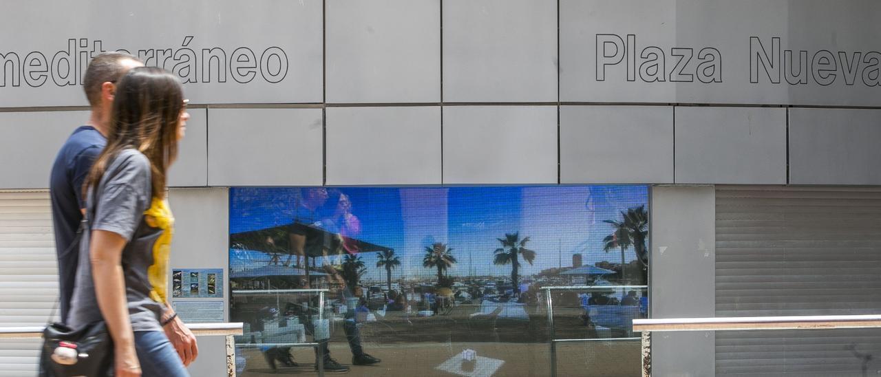 El acuario de la plaza Nueva en una imagen de mayo de 2019