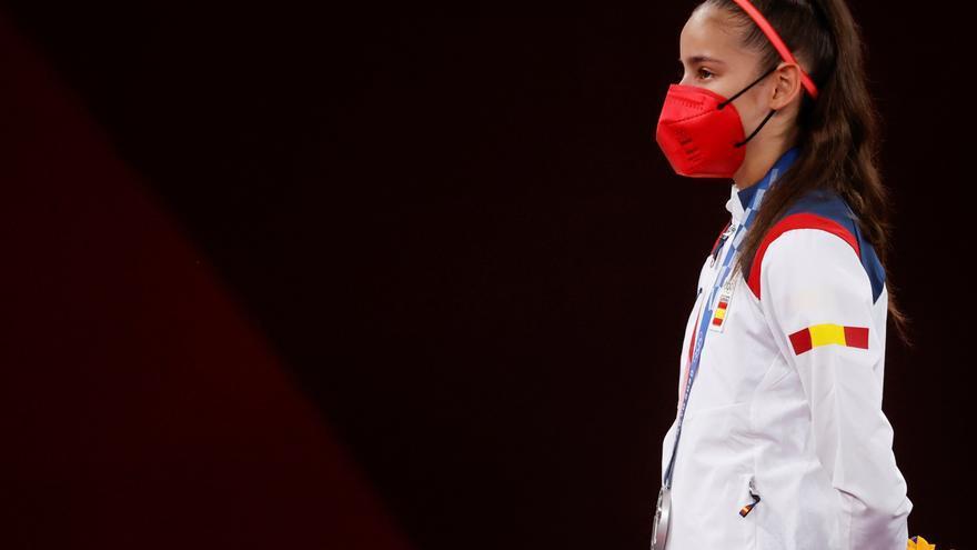 """Emotivo saludo de Adriana Cerezo tras su plata en Taekwondo: """"Lo siento muchísimo. Gracias a todos"""""""