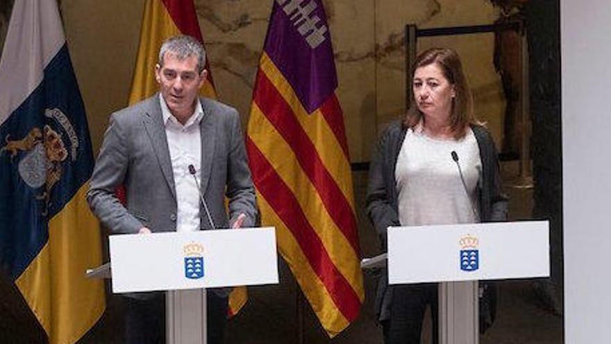Armengol evita la confrontación con Canarias por sus críticas al REB de Baleares