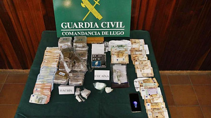 Seis detenidos, uno de ellos asturiano, en una operación antidroga en Lugo